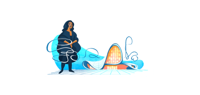 Google Honoured Architect Dame Zaha Hadid With a Doodle