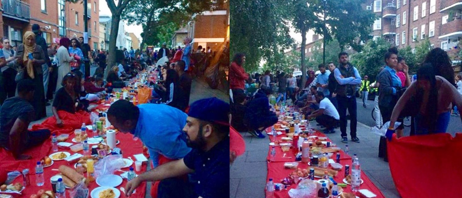 Communities Come Together for Street Iftar Following Grenfell Tower Fire